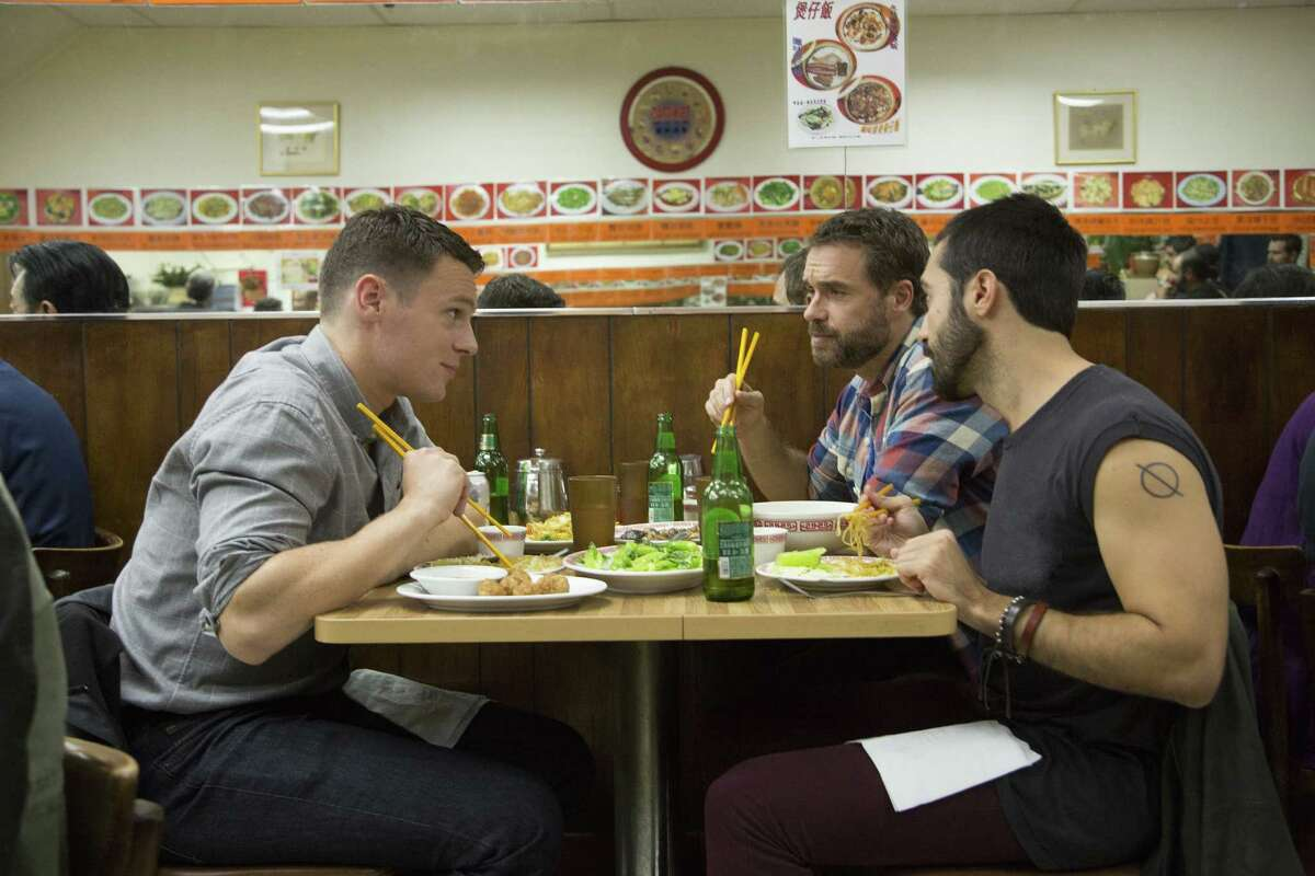 Jonathan Groff (left), Murray Bartlett and Frankie J. Alvarez play gay men in HBO's,