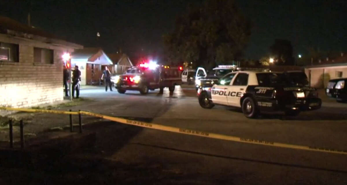 A man was shot to death late Saturday night when a group of men forced their way into his south Houston home.
