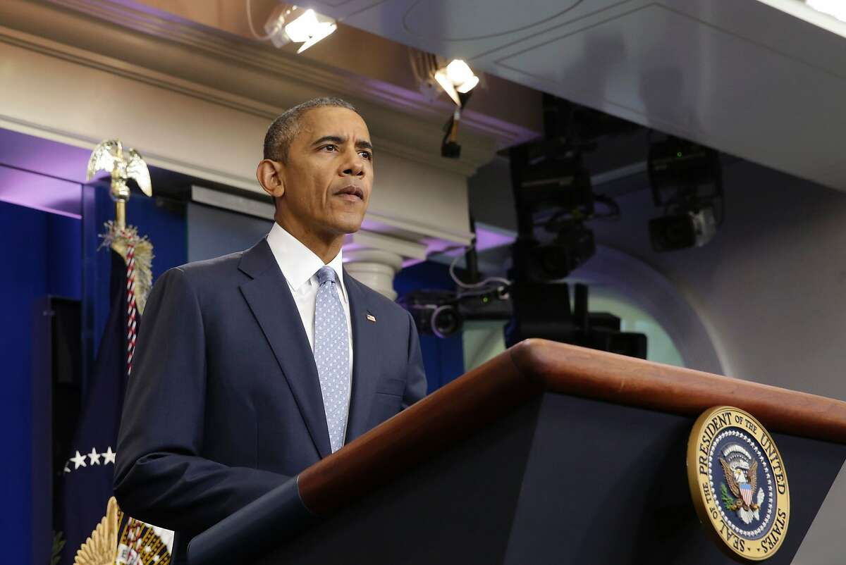 US President Barack Obama makes a statement at the White House in Washington about police officers deadly shooting in Baton Rouge on July 17, 2016. Obama condemned as