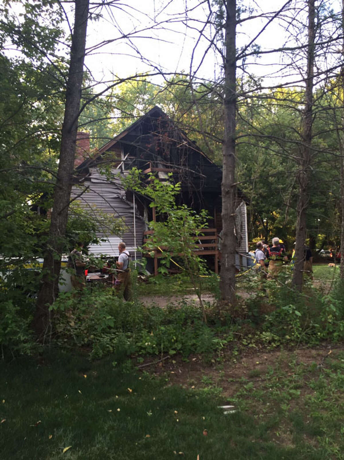 One person was killed in a fire Sunday, July 17, 2016, on Carmen Road in Guilderland, according to Guilderland Fire Chief Scott Jill (Amanda Fries / Times Union)