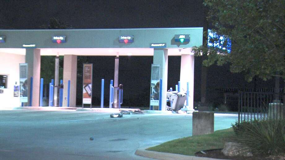 Police are searching for suspects who used a forklift to destroy an ATM on the West Side on Monday morning. Photo: 21 Pro Video