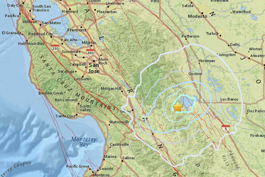 A magnitude 3.8 earthquake shook the area near Hollister early Monday morning.