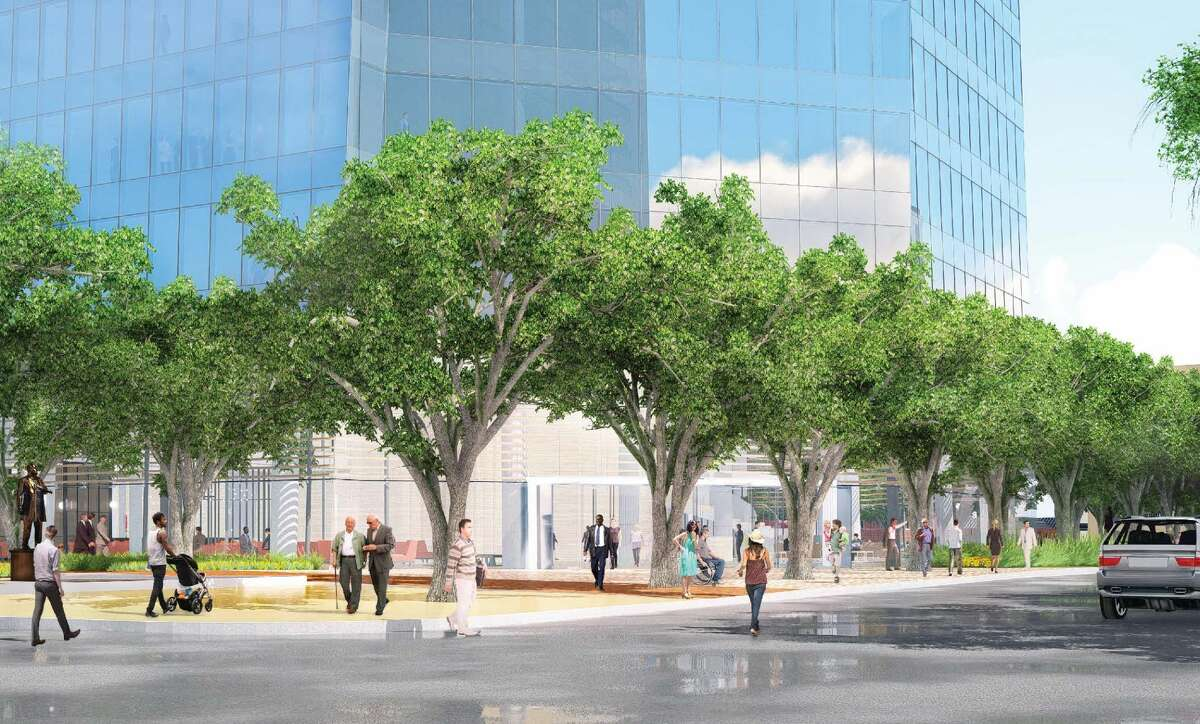 The proposed design for Frost Bank's new headquarters is intended to lead the Alamo City's commercial office space into a new era, according to a previous Express-News report.