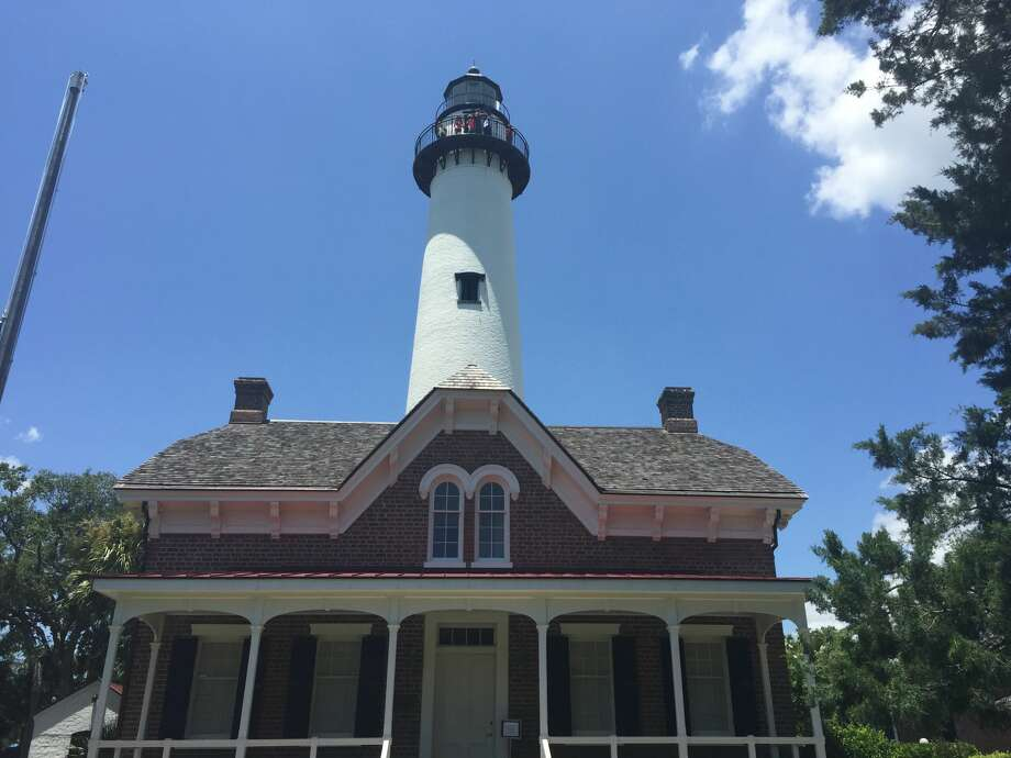 A view of the St. Simons Lighthouse and Keeper's Dwelling. The current structures were built in 1872. The original lighthouse, built in 1807, was burned by Confederate soldiers during the Civil War. Photo: Sarah Diodato