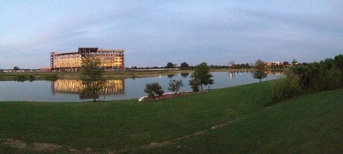 The Stella Hotel is situated on a 5-acre lake in the Lake Walk Town Center development in the Atlas community near Texas A&M University. (Atlas courtesy photo)