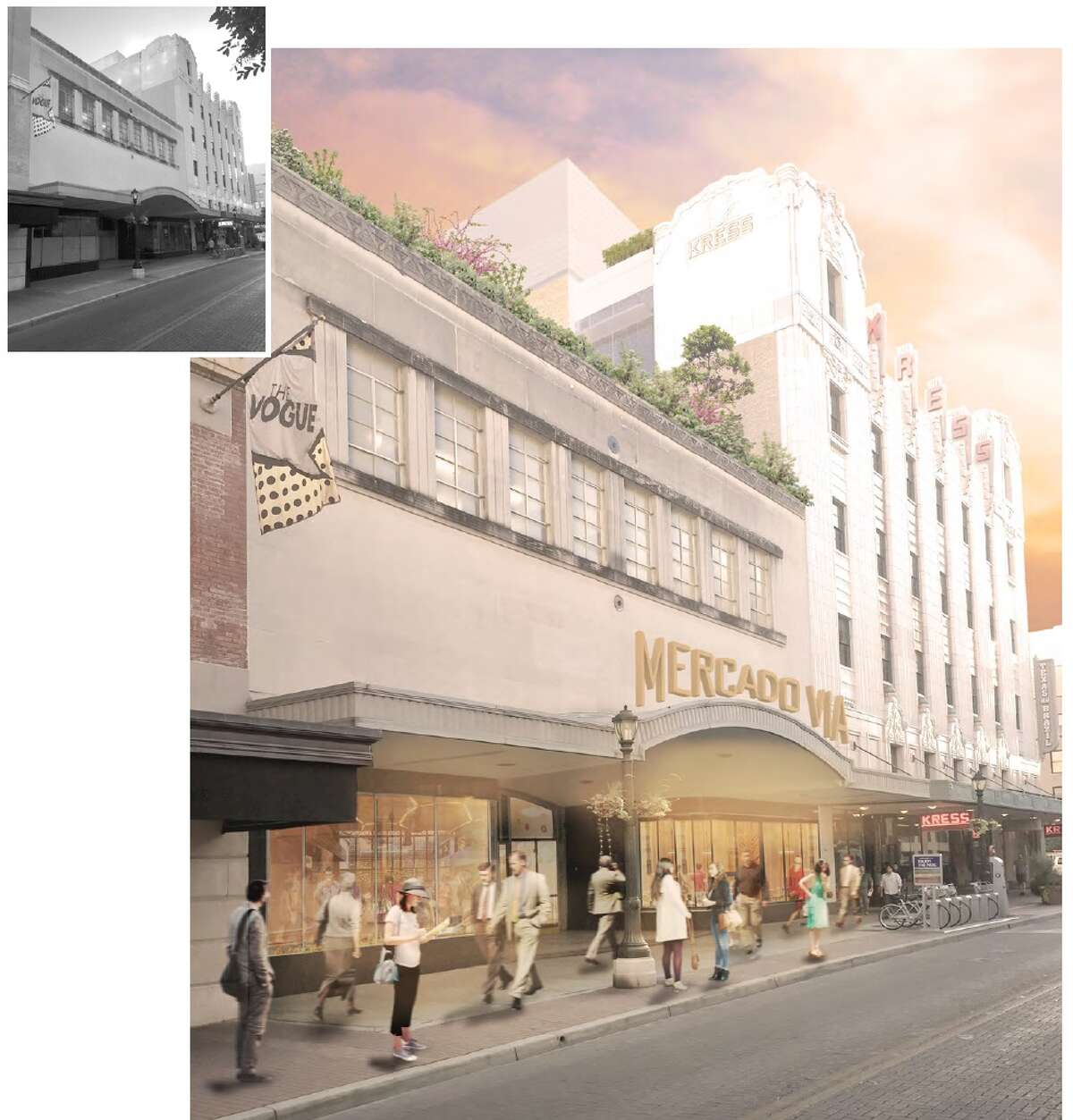 The development will include a food hall with about 10 vendors modeled after the Mercado Roma in Mexico City.