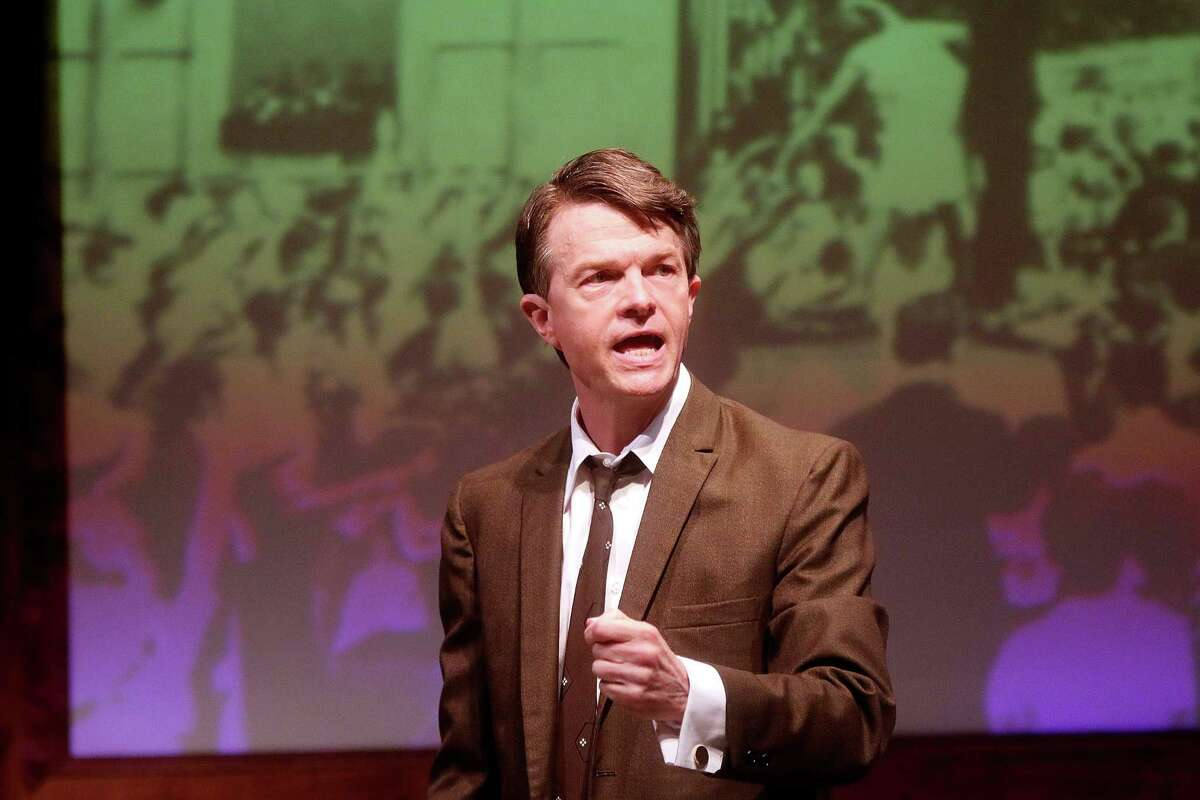Joel Sandel as RFK in Main Stage Theater's production of