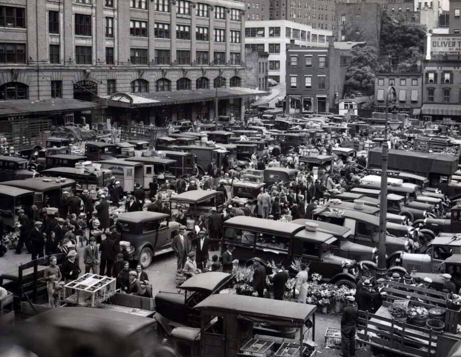 Click through the slideshow to see what Albany looked like the year you were born.1935: Albany Center Market at Lyon Block building on Grand St. between Beaver St. and Hudson Ave. 1935, in Albany, N.Y. The Times Union Center is housed at this site today. Between Beaver St. and Hudson Ave. where Grand St. once ran.  1930s Historic streets and buildings.
