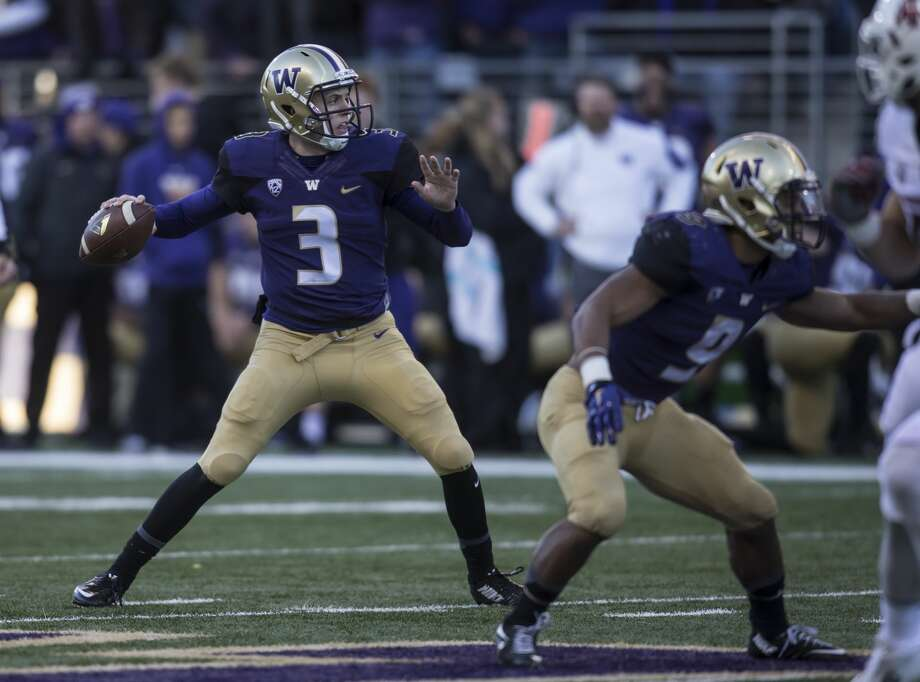 Jake Browning, Washington QBDavey O'Brien Award (best quarterback)  Maxwell Award (college football player of the year)  Photo: Stephen Brashear/Getty Images