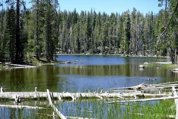 Eleanor Lake in Caribou�Wilderness. One of the least-used wilderness areas in California, yet sprinkled with a series of many small, beautiful lakes and remote campsites. It adjoins the wilderness boundary with Lassen Volcanic National Park in Northern California.