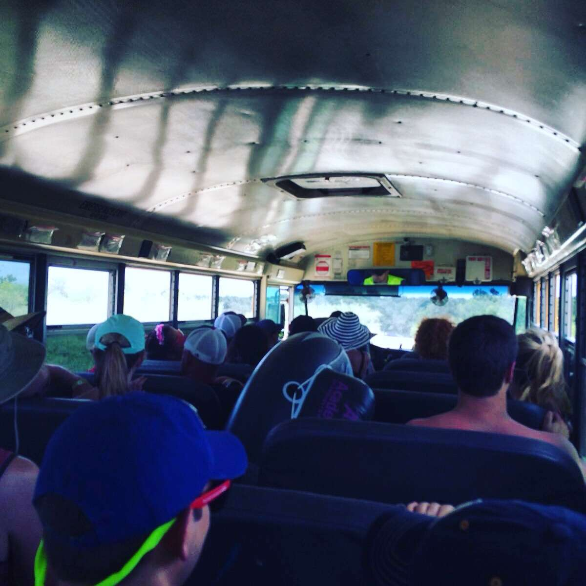 Float Festers loaded on the bus bound for the Cool River Ranch.