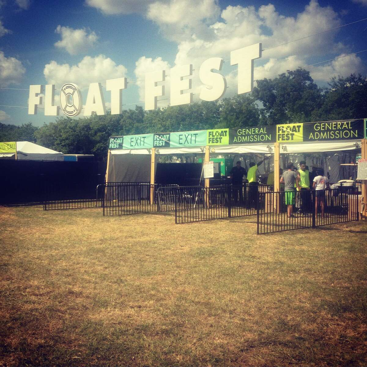 Welcome to Float Fest 2016! Don't be fooled by the empty queues. The lines were 200 people deep around noon.