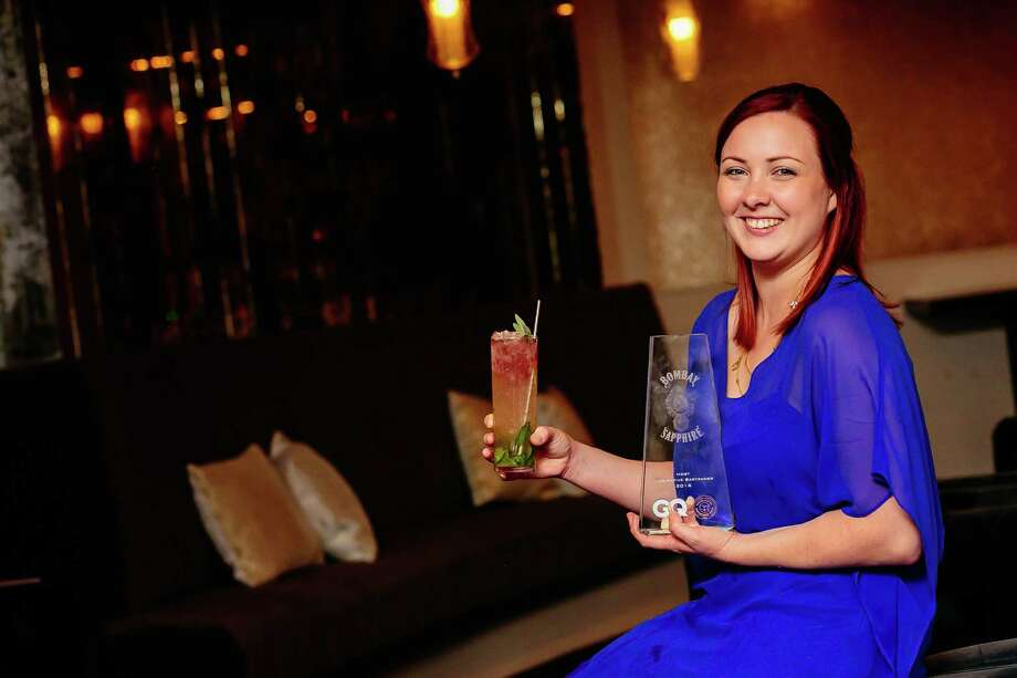 Rebecca Burkart of Canard in Houston is the Texas winner of the United States Bartenders Guild's 10th annual Most Imaginative Bartender Competition. Photo: Bombay Sapphire