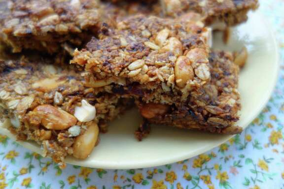 Date, Coconut and Peanut Granola Bars contain no sugar - they don't need it.