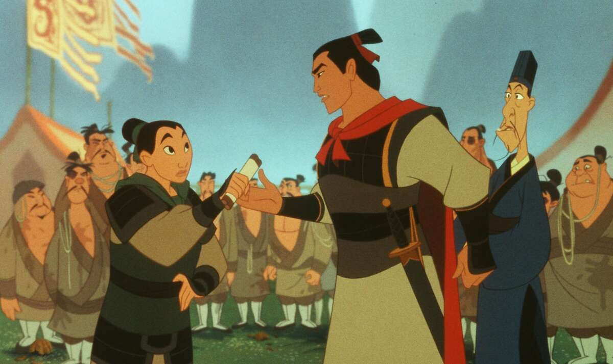 Uh oh, Mulan's feeling some feelings for her superior officer! That might prevent her from saving China (it didn't).