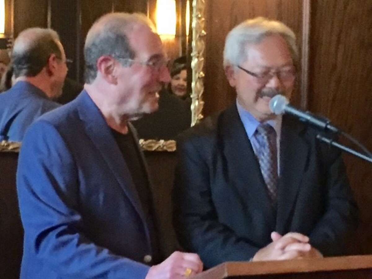 Ronn Owens and Mayor Ed Lee.