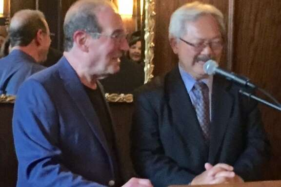 Ronn Owens and Mayor Ed Lee.