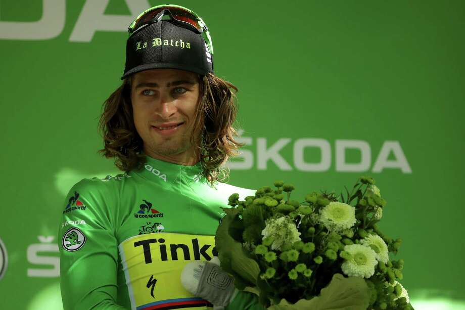 BERN, SWITZERLAND - JULY 18:  Peter Sagan of Slovakia riding for Tinkoff poses on the podium in the points jersey following his win in stage 16 of the 2016 Le Tour de France, a 209km stage from Moirans-En-Montagne to Berne at  on July 18, 2016 in Berne, Switzerland.  (Photo by Chris Graythen/Getty Images) Photo: Chris Graythen, Staff / 2016 Getty Images