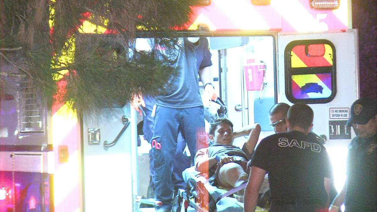 Police are searching for four suspects who tried to rob a group of people at a West Side apartment complex on Tuesday morning.
