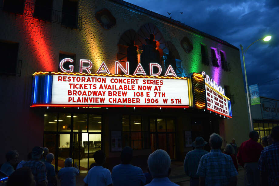 Herald File Photos Exactly a year ago, a large crowd was on hand for the relighting of the marquee at the Historic Granada Theatre. Efforts by Darryl Holland to restore the storied movie house has been attracting wide attention, and merited feature treatment in the current issue of Texas Monthly magazine. The Granada Theatre opened in 1929 as one of the grandest movie houses in Texas. Styled after a Spanish courtyard, it remained a unique showplace until the late 1970s when it was converted into a twin theater and much its original interior gutted.