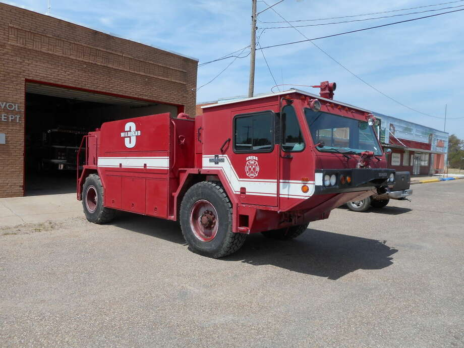 The Kress Volunteer Fire Department recently received a new fire truck thanks to the Department of Defense. Photo: Courtesy Photo
