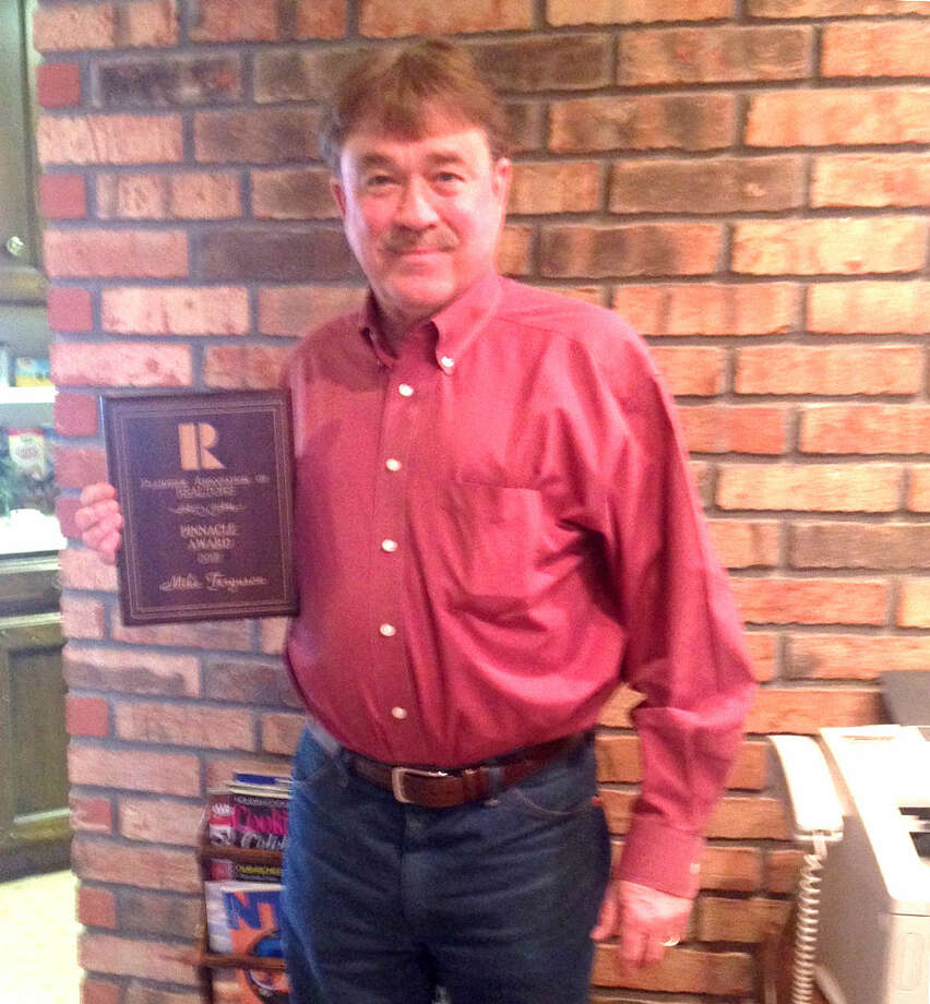 At the recent installation luncheon for Plainview Association of Realtors, Mike Ferguson with Billington Real Estate received the prestigious Pinnacle Award, highest honor bestowed upon a Realtor who is a member of the Association. Ferguson has been a PBR member for several years and served in various capacities for the association.