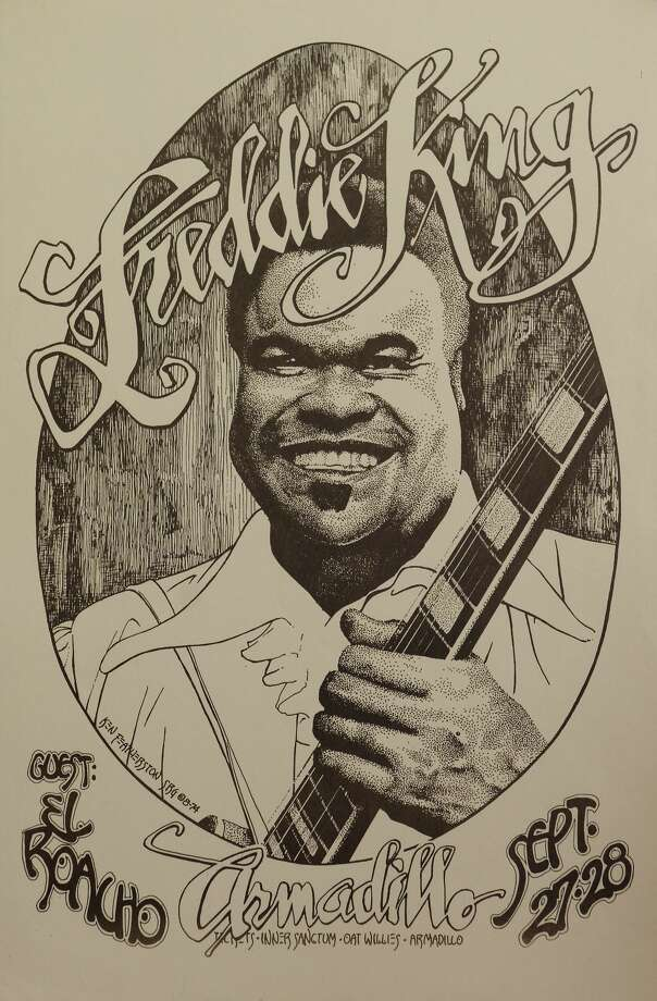 Poster for Freddie King show at the Armadillo World Headquarters, 1974. Poster designed by Ken Featherton from the collection of Tony Davidson Photo: Photo By Jay Dryden