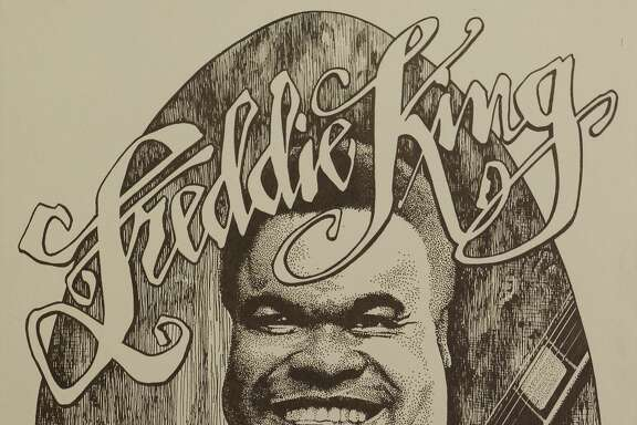 Poster for Freddie King show at the Armadillo World Headquarters, 1974. Poster designed by Ken Featherton from the collection of Tony Davidson