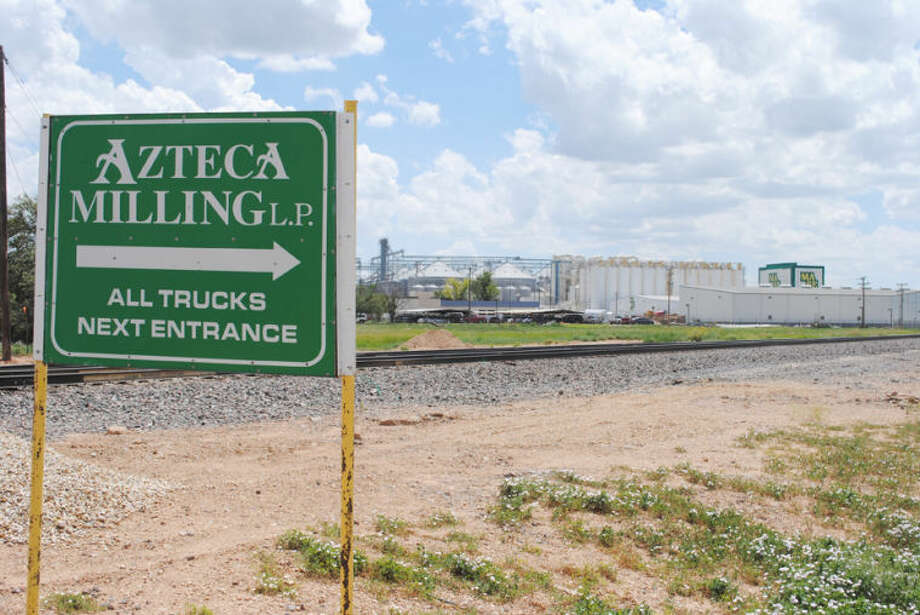 Ryan Crowe/Plainview HeraldA sign points toward the truck entrance of Plainview's Azteca Milling plant, one of the world's largest corn mills.