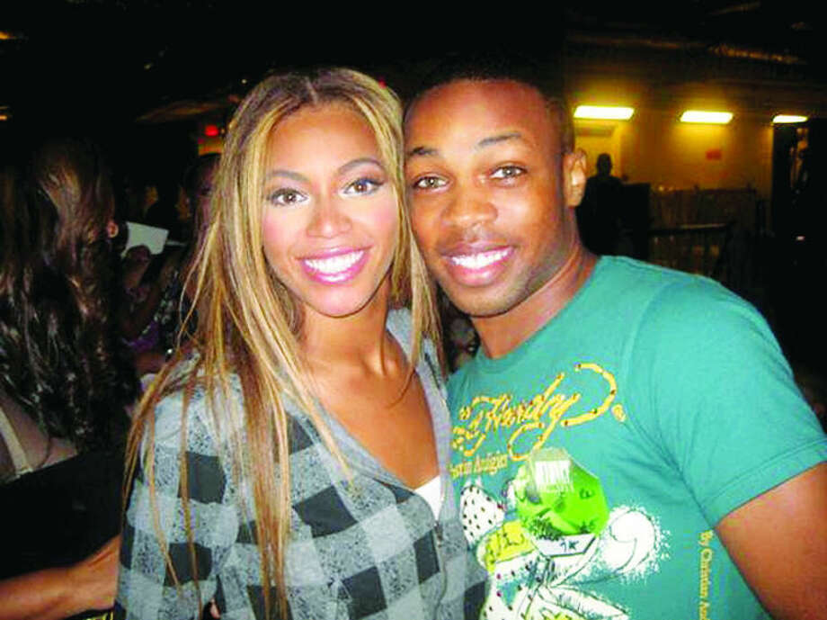 "Courtesy PhotoTodrick Hall and Beyoncé in a photo taken backstage at a production of ""The Color Purple"" on Broadway in 2009. In 2011, Todrick was featured in a YouTube flash mob at Target dancing to Beyoncé's single ""End of Time."""