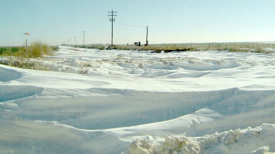 Dr. Ted McCollumn/Texas A&M AgriLife Extension Service Snow cover from the winter storm Goliath persisted for weeks in the Texas Panhandle, according to Texas A&M AgriLife Extension Service county agent reports.