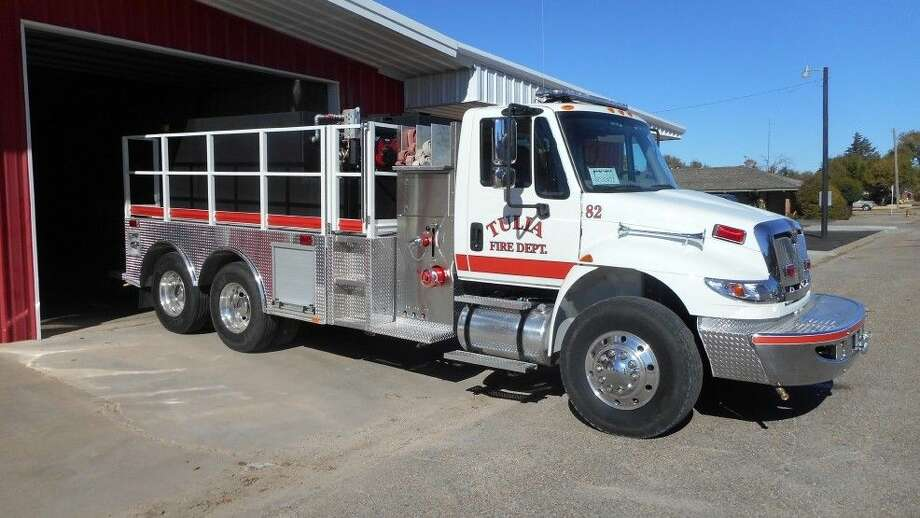 Texas A&M Forest Service Photo A $200,000 grant from the Texas A&M Forest Service has been used by Tulia Volunteer Fire Department for a new truck, replacing a 1986 unit that is a converted garbage truck.