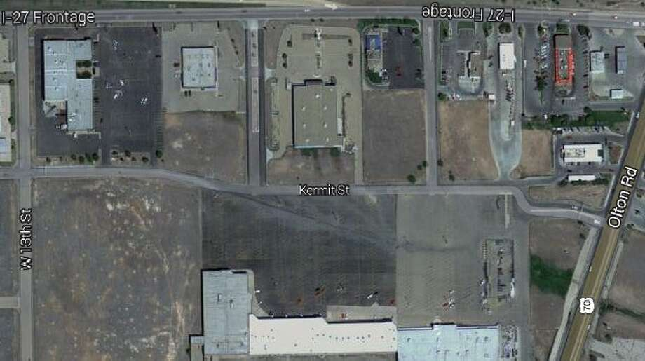 An aerial view of the area west of Interstate 27 that could soon become an extension of Kermit Street. Photo: Courtesy: Google Maps