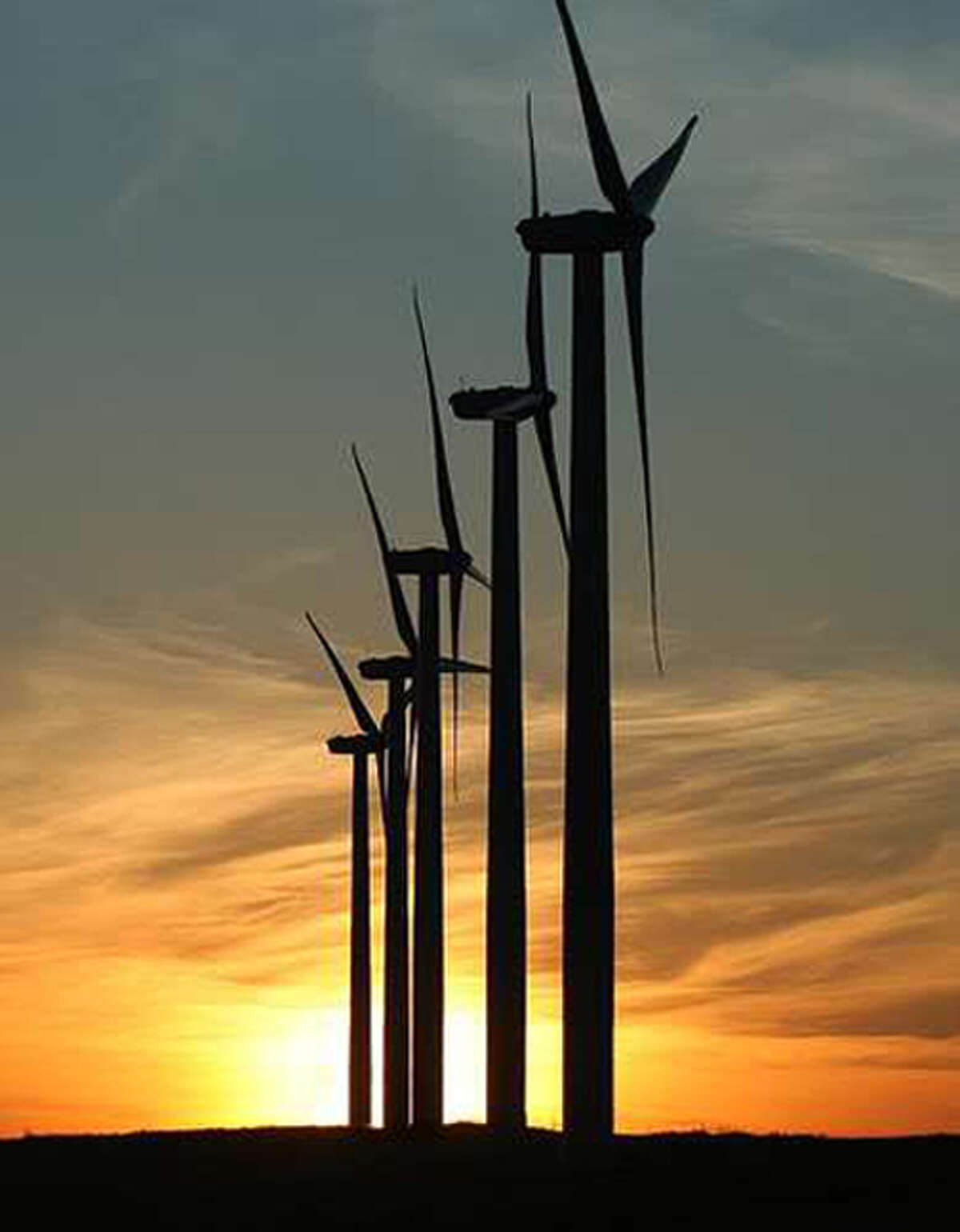 Wind turbines, similar to those shown in this photo, are expected to change the Hale County landscape as plans are to have 850-900 turbines in the county within five years. Each turbine will cost about $2 million. Early phase construction is expected to begin late this year.