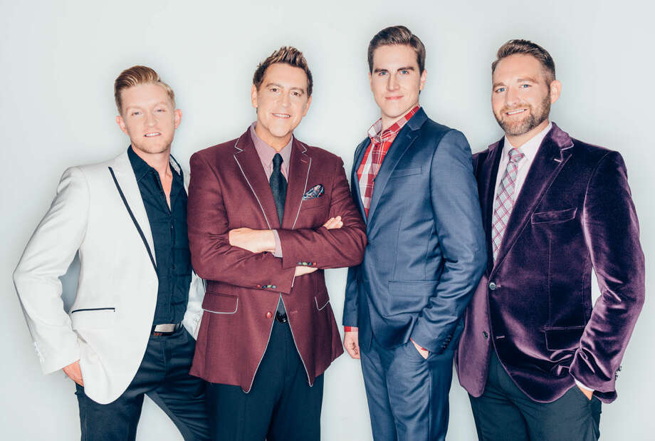 Courtesy Photo Ernie Haase and Signature Sound includes lead Devin McGlamery (left), tenor Ernie Haase, baritone Dustin Doyle and bass Paul Harkey, a PHS and Wayland graduate.