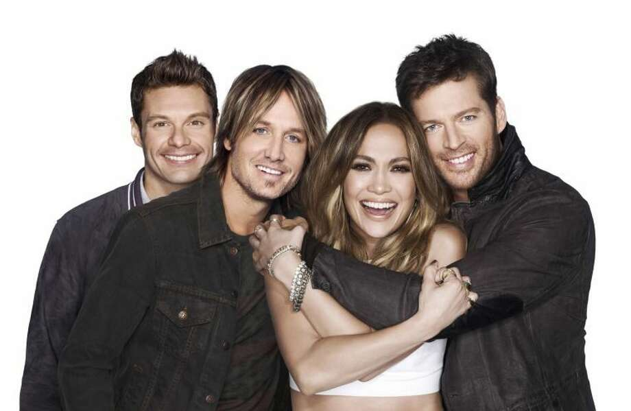Michael Becker/FOX Broadcasting Co./MCTAmerican Idol XIII stars, from left, host Ryan Seacrest, and judges Keith Urban, Jennifer Lopez and Harry Connick Jr. The show returns with a two-night, four-hour premiere Wednesday, Jan. 15, 2014, and Thursday, Jan. 16.