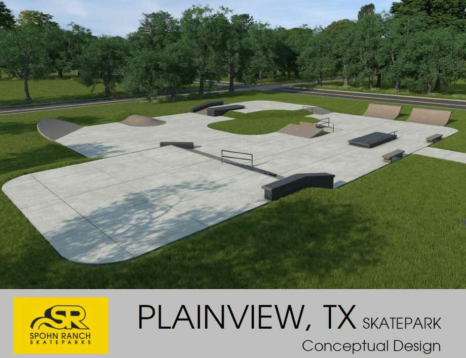 Above is an updated design of the Plainview skate park expected to be completed early this summer. Photo:  Courtesy Photo