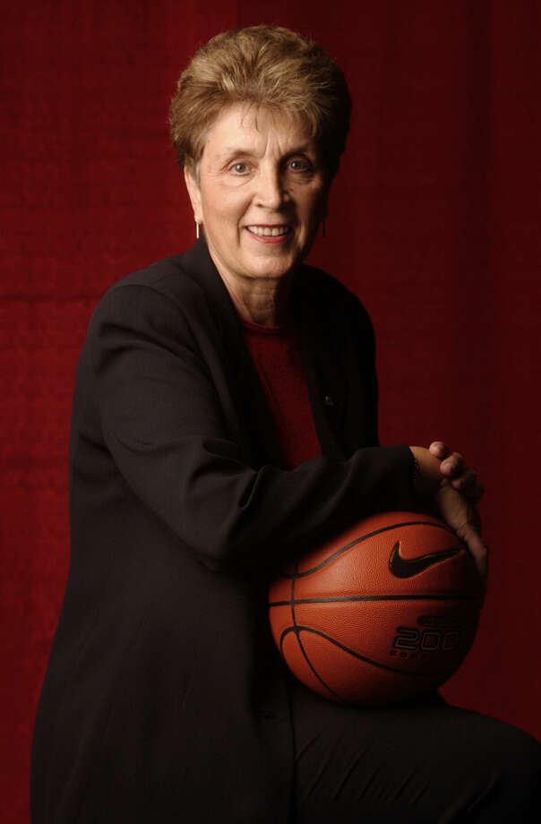 "North Carolina State coach Kay Yow poses for a portrait after being chosen as ""Tar Heel of the Year"" in 2002. Yow died after a long battle with cancer on Saturday, January 24, 2009. She was 66. (Robert Willett/Raleigh News & Observer/MCT) Photo: MCT"