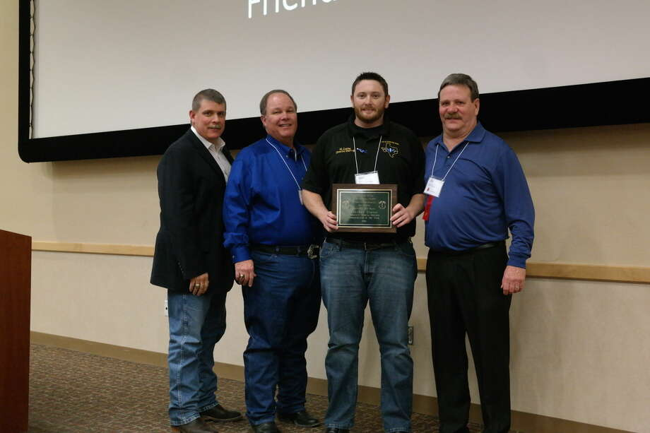 Hale Center Emergency Medical Service Association Director Matt Carter was named the EMS Administrator of the Year during the 2016 SPEMS Conference. Pictured from left are Dr. Charles Addington (SPEMS Medical Director); Mike DeLoach (SPEMS Chair); Matt Carter (EMS Director-Hale Center EMS Association) and Jim Waters (Regional Coordinator-South Plains EMS SPEMS).