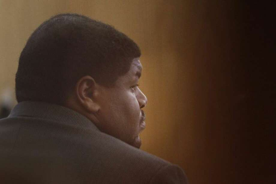 Josh Brent, a former defensive tackle for the Dallas Cowboys, listens to testimony at his trial in Dallas on Jan. 13. Brent was convicted Wednesday of intoxication manslaughter in the death of teammate Jerry Brown. Photo:  Kye R. Lee/Dallas Morning News/MCT