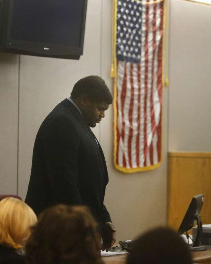 Former Dallas Cowboys player Josh Brent appears in court during the sentencing portion of his intoxication manslaughter trial in Dallas Thursday. On Friday, Brent was sentenced to 180 days in jail and 10 years probation. Photo: Louis DeLuca/Dallas Morning News/MCT