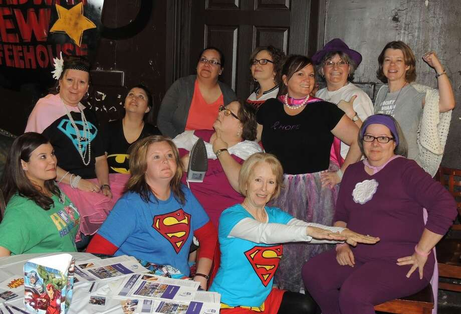 Digging into their own superhero personalities, the ACS Relay for Life committee held its annual kickoff event to sign up teams Tuesday. Team registration is still available. Committee members are Kendra Davidson; Annette Coon, co-chair; Ashley Ulrey, co-chair; Crystal Smith, team recruitment and retention; Pamela Pollard, team recruitment and retention; RaeAnne King, special projects; Jennifer Settle, team recruitment and retention; Daleyn Schwartz, survivor and caregiver - chair; Laura Spencer, survivor and caregiver — accounting; Brett Cox, logistics; Cody Brewer, logistics; Scott Snipes, logistics — back-up; Katy Powell, community and youth engagement; Ashley Price, community and youth engagement; Sheila MacKay, Junior ACS; Stacie Stoerner, accounting; Phyllis Wall, Facebook/team auction; DiAnna Scarbrough-Jones, registration - Soroptimist; Susan Barkley, Luminaria; Janie Keller, entertainment and ceremonies, and Nicole Russell, activities Photo: Phyllis Wall/Special To The Herald