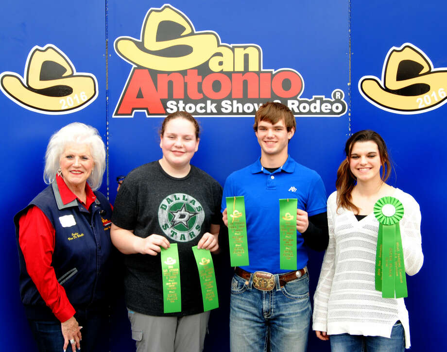 Hale County 4-H Meat Judging Team 2 finished in the Top 10 on Sunday at the San Antonio Stock Show and Rodeo, earning sixth place honors. Team members include Tessa Barrett (second from left), who was 24th overall; Isaiah Geter, 30th; and Myra Geter, 20th overall.