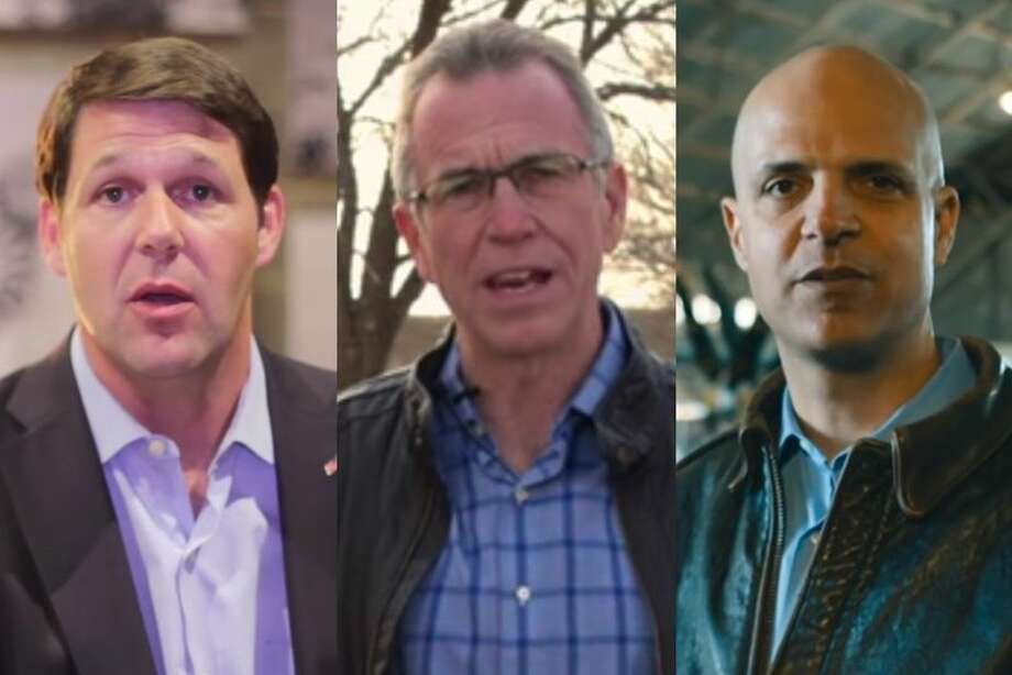 From The Texas Tribune Former Texas Tech Vice-Chancellor Jodey Arrington (left), retired Air Force Colonel Michael Bob Starr (right) and Lubbock Mayor Glen Robertson are three of the leading candidates seeking the congressional seat soon to be vacated by U.S. Rep. Randy Neugebauer, R-Lubbock.