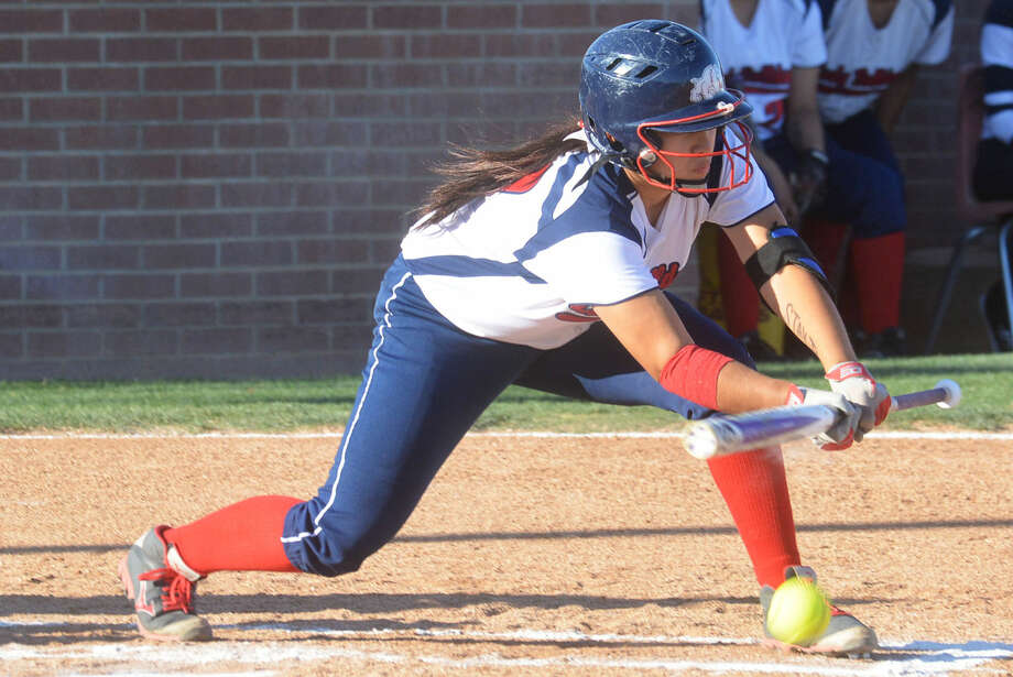 Plainview's Lori Gonzalez lays down a bunt during a bi-district softball game last year. Gonzalez is the only senior starter on the team, which also returns four other starters. She will play shortstop after playing third base and catcher the past two years. Plainview begins their regular season Thursday at Frenship in the Caprock Classic. Photo: Skip Leon/Plainview Herald