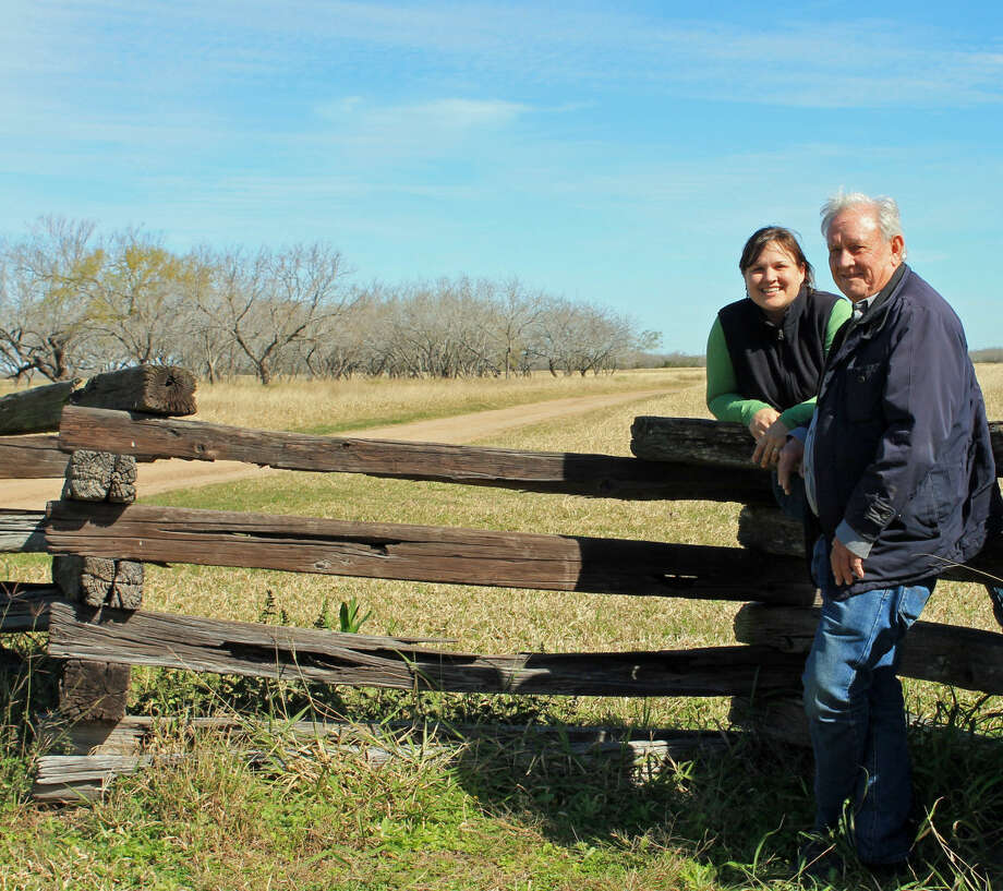 Karen Dellinger/Courtesy PhotoGeneration Next: Our Turn to Ranch Schools at set this spring at three locations to help adult children and grandchildren of landowners get involved in the family ranch. Shown here are Lisa Riddick Herring and her father, Thomas Riddick, at the Riddick Ranch near Alice.