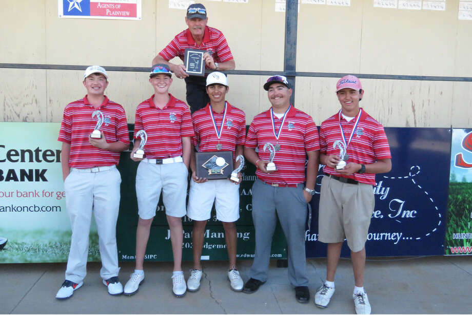 The Plainview boys golf team opened their spring season in strong fashion with a team title at the Plainview Invitational at the Plainview Country Club. Team members are front row, from left,Zach McDonough, Trey Gregory, Ryan Castillo, Troy Velasquez and Isaiah Garcia. Standing behind the team is Coach Mike Lewis. Photo: Photo Courtesy Of Betsy Lewis