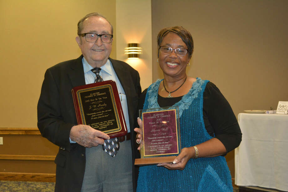 Citizens of the YearDoug McDonough/Plainview HeraldPlainview's Man and Woman of the Year for 2015, J.W. Hamby and Sherrie Wall, were introduced Thursday at the annual Plainview Chamber of Commerce Banquet.