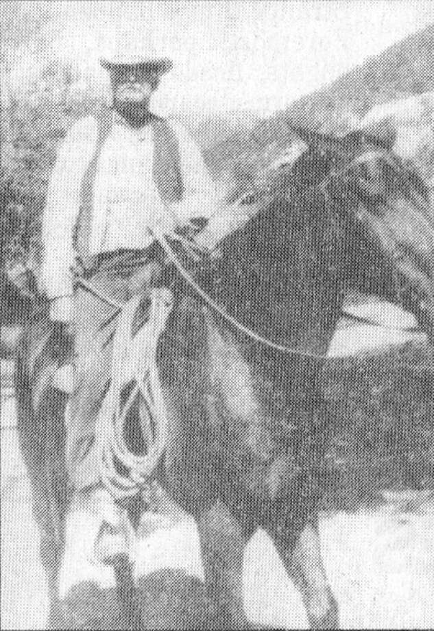 Photo courtesy of Troop 262John T. Haynes rides his favorite horse, Old Sleepy, on his ranch east of Silverton. Before he died in 1950, Haynes gave a portion of his ranch to the Scouts for a campground.