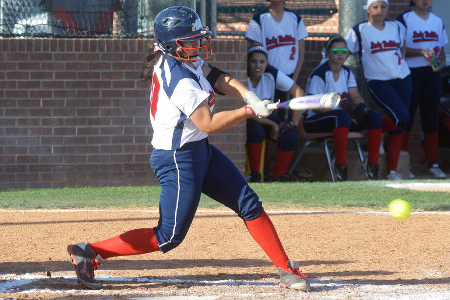Plainview's Lori Gonzalez takes a swing during a game last season. The senior was 5-for-7 with five runs scored in two games at the Fort Worth Brewer Tournament Saturday. She scored the winning run in the bottom of the seventh inning of a victory over Grand Prairie. Photo: Skip Leon/Plainview Herald